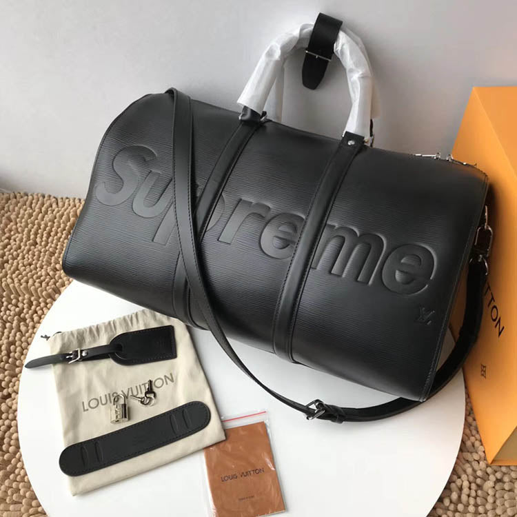 Supreme x LV Travel Bag