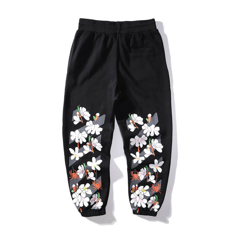 Off White Flower Pants