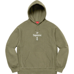 Supreme 20FW Cross Box Logo Hooded Sweatshirt
