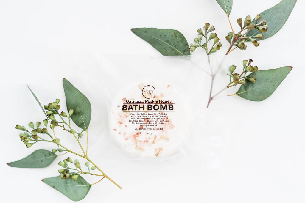 Oatmeal, Milk & Honey Bath Bomb by Alchemy and Clay