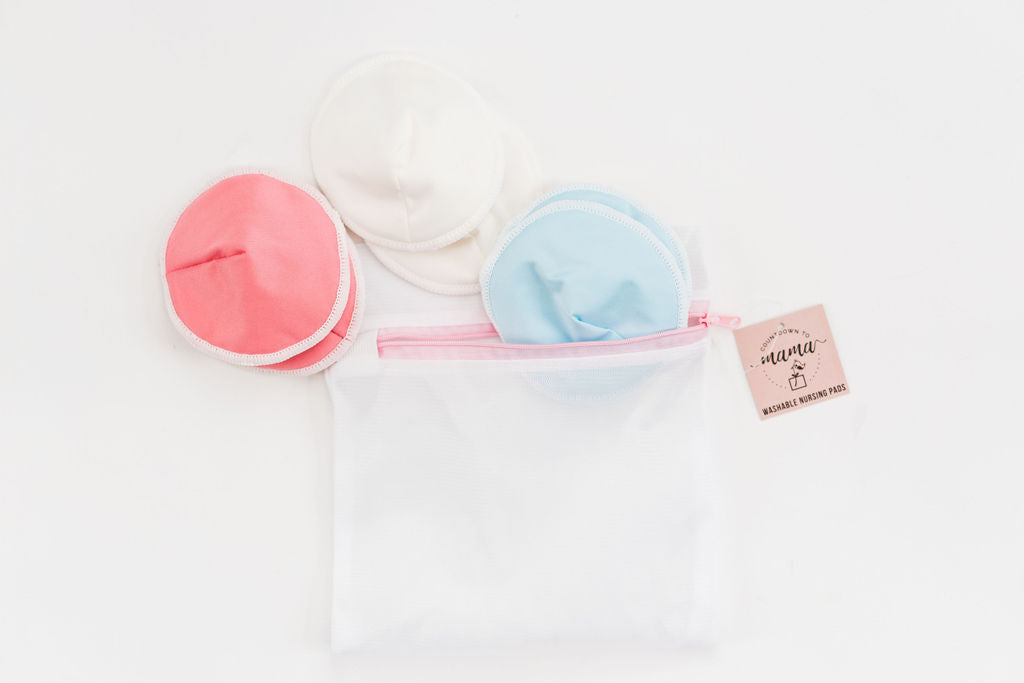Washable Bamboo Nursing Pads with Delicates Laundry Bag - 6 Count
