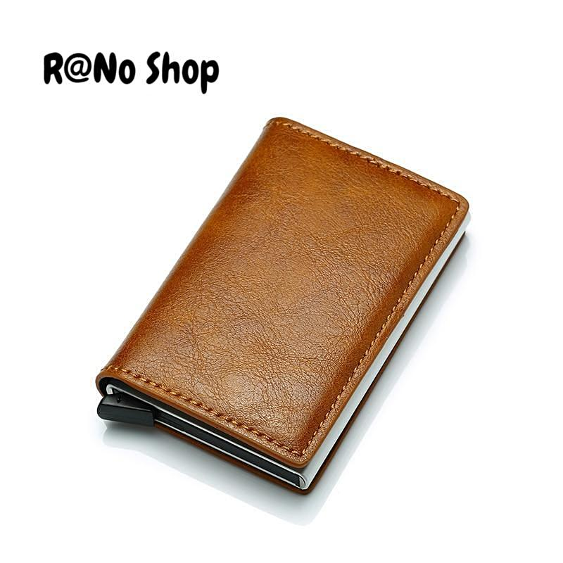 0a02f732b146 Antitheft Vintage Credit Card Holder Blocking Rfid Wallet Leather ...
