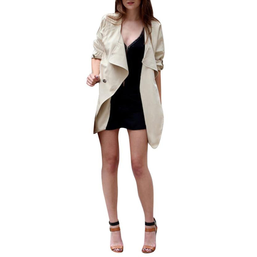 Fall Transitional Lightweight Modern Trench Coat