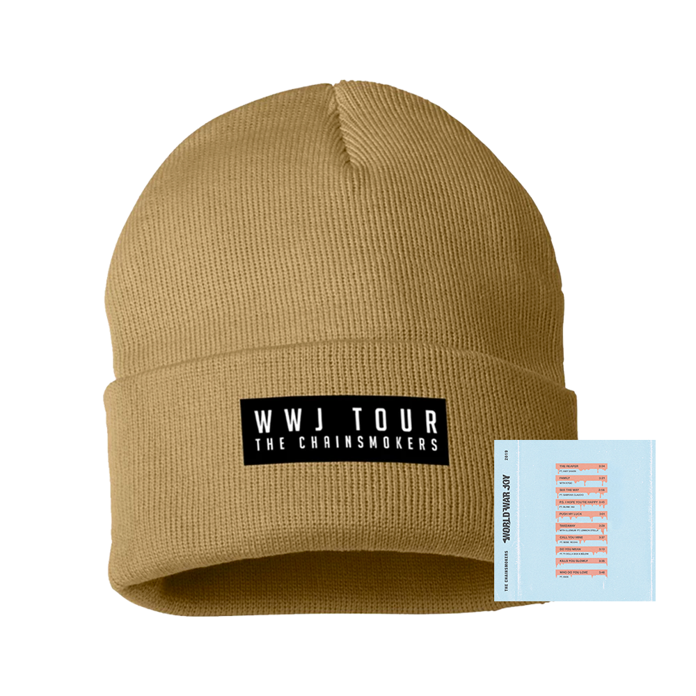 Tan WWJ Tour Beanie + Digital Album
