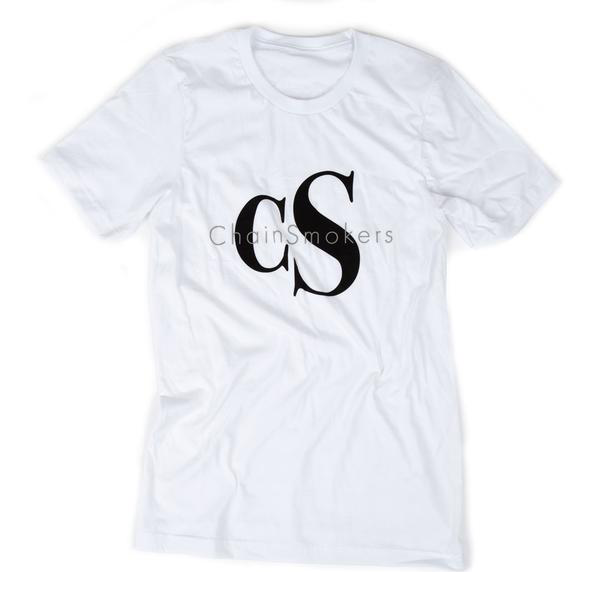 White cS Logo Tee