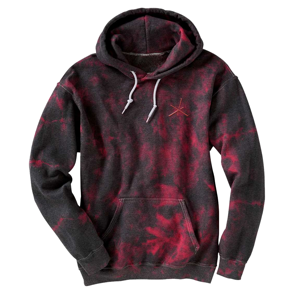 Black/Red Crystal Triad Hoodie