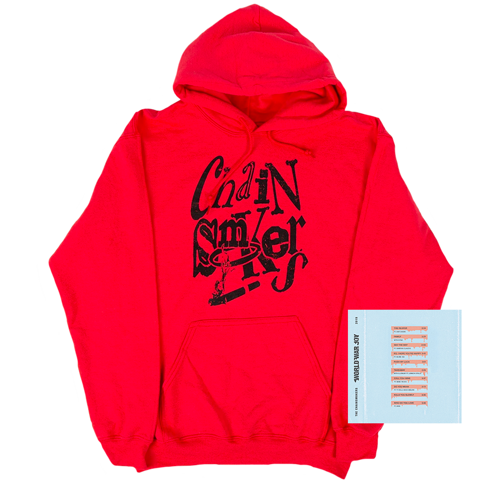 Red WWJ Hoodie + Digital Album