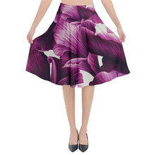 Load image into Gallery viewer, Purple Spring Flower Print Midi Flare Skirt *Limited Edition*