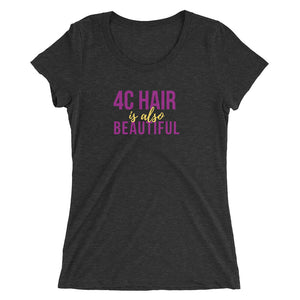4C Hair Women's Short Sleeve Fitted T-shirt