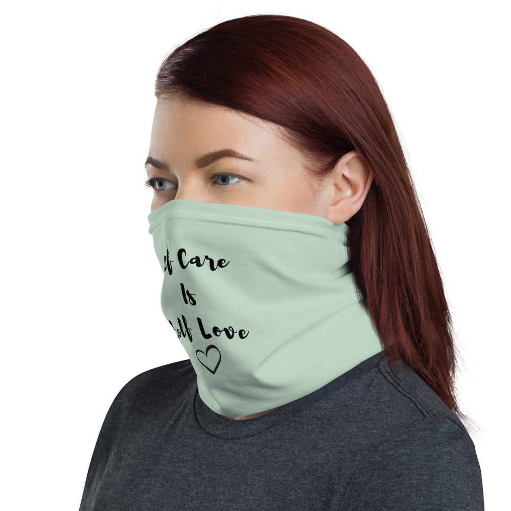 Self Care= Self Love Face Mask Neck Gaiter