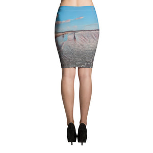 Santa Monica Beach Pencil Skirt