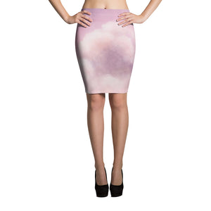 Dreamy Clouds Pencil Skirt