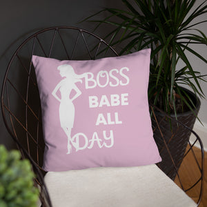 Boss Babe All Day Throw Pillow
