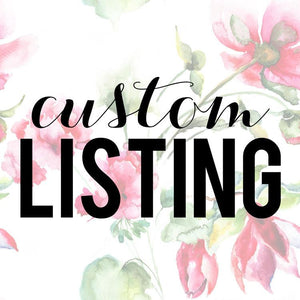 Custom Listing for Heather Stone Cohen 1