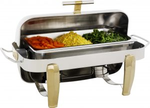 RECTANGULAR ROLLTOP CHAFER  DELUXE (GOLD)