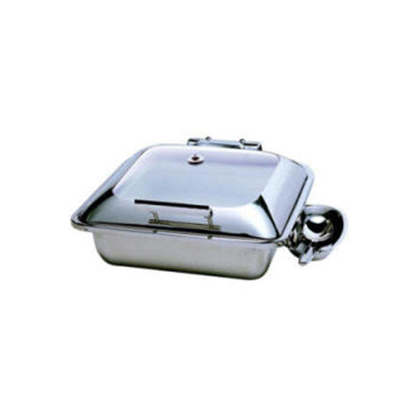 SQUARE INDUCTION CHAFER  WITH GLASS LID - SMART RANGE  5.5LT