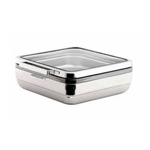 CHAFING DISH SQUARE STAINLESS STEEL 6.0LT