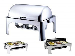 RECTANGULAR ROLLTOP CHAFER CONTEMPORARY DESIGN INFINITI