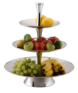 FRUIT STAND - 3 TIER STAINLESS STEEL
