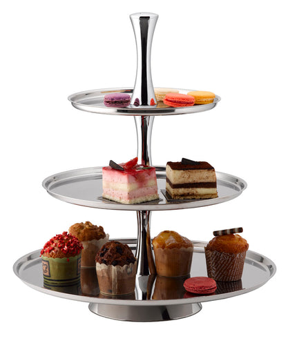 PASTRY STAND – 3 TIER STAINLESS STEEL