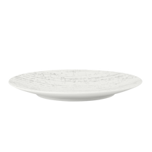 Load image into Gallery viewer, Drizzle round plate - white 28cm (12)