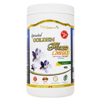 Sprouted Golden Flax Powder - 400g - PNC Pure Natures Canada