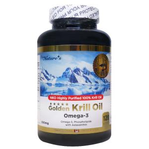 Golden Krill Oil (Omega 3)- 120 Soft Gels - PNC Pure Natures Canada