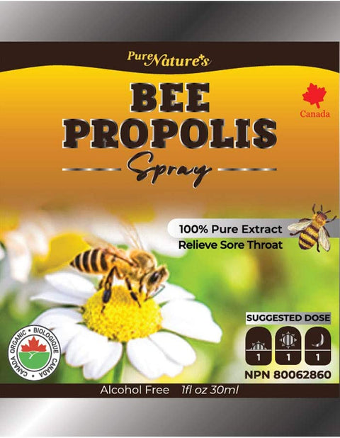 Nature Bee Propolis Spray 30ml - Alcohol Free - PNC Pure Natures Canada