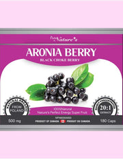 Aronia Berry X20 - 500mg 180 Capsules - PNC Pure Natures Canada