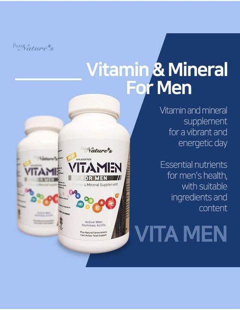 Vita Men for Men - 120 Capsules - PNC Pure Natures Canada