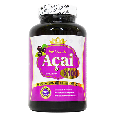 PNC Acai Berry x100-500mg 180 소프트 젤