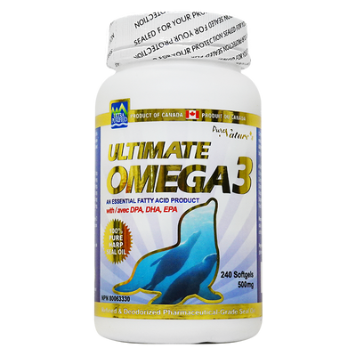 Ultimate OMEGA 3 Sea Oil - 500mg 240 Capsules - PNC Pure Natures Canada