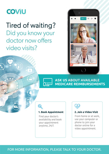 GP Telehealth Practice Flyer A5