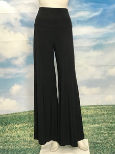 Black Color High  Waisted Palazzo Pants - americanfashion2