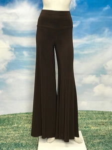 Brown Color High Waisted  Palazzo Pants - americanfashion2