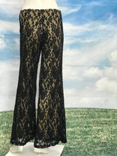 Wide Legs Lace Pants with Nude Linings - americanfashion2
