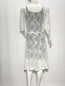 Cross Over Lace Dress - americanfashion2