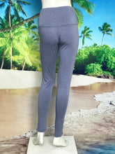 Hi Waist Denim Color Leggings - americanfashion2