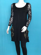 Lace Sleeve Tunic Lace Pockets - americanfashion2
