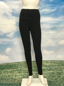 Black Color High Waisted Leggings Black Fringes - americanfashion2