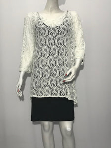 One Side kimono Lace Tunic - americanfashion2