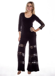 Lace Cut Out Pants - americanfashion2