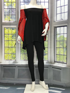 Wrap Sleeve Long Sleeve Tunic Tops - americanfashion2