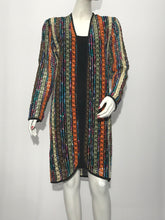 Long Sleeve Chenille Duster Cardigan - americanfashion2