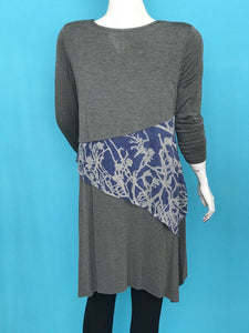 Long Sleeve Three Layer Tunic - americanfashion2