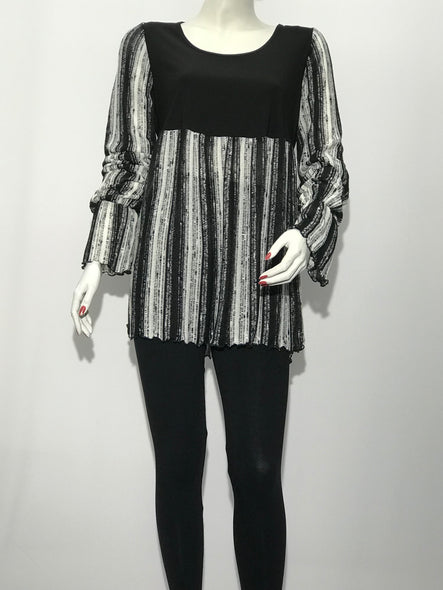 Stripe Color Block Tunic - americanfashion2