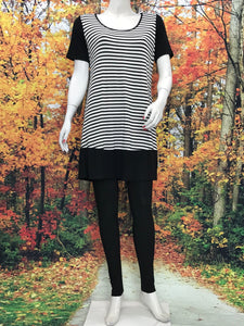 Color Block Stripe Tunic - americanfashion2
