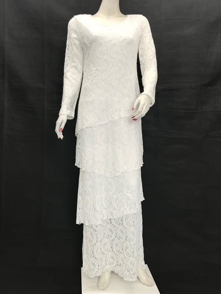White Layer Maxi Dress - americanfashion2