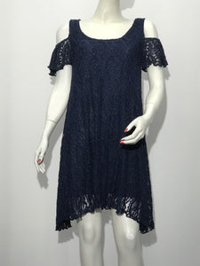 Lace Cold Shoulder Tunic - americanfashion2