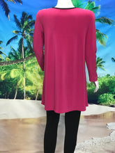 3/4 Sleeve Color Block Tunic - americanfashion2